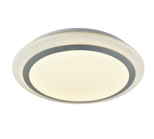 STROPNA LED SVETILKA CAMBIO - bela, Design, kovina/umetna masa (40cm) - Novel