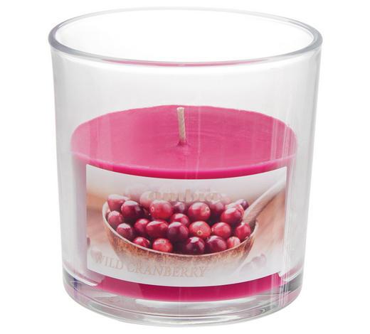 DUFTKERZE - Pink/Transparent, Basics, Glas (10/10cm) - Ambia Home