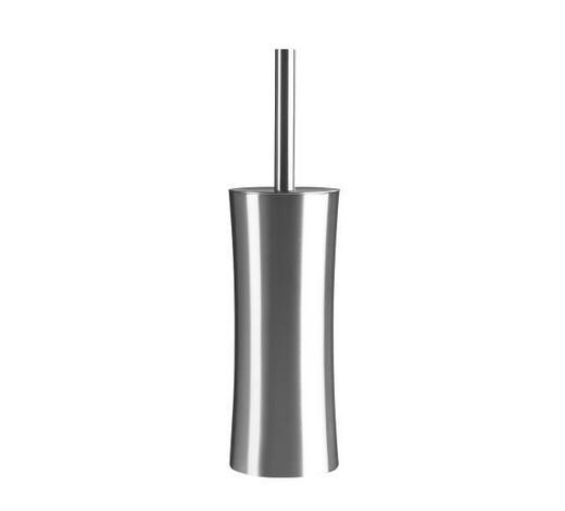 WC-BÜRSTENGARNITUR in Metall - Edelstahlfarben, Basics, Kunststoff/Metall (10/38cm) - Sadena