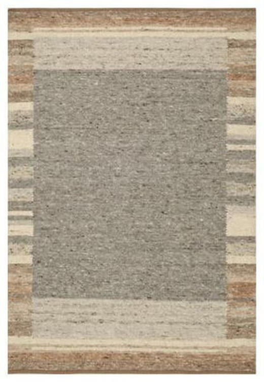 HANDWEBTEPPICH  90/180 cm  Braun, Grau, Naturfarben - Braun/Naturfarben, Textil (90/180cm) - Linea Natura