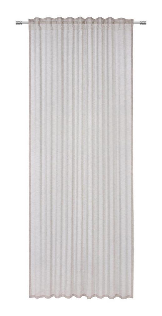 FERTIGVORHANG  halbtransparent   140/245 cm - Taupe, KONVENTIONELL, Textil (140/245cm) - Esposa