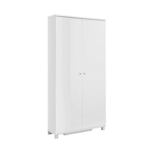BOTNÍK - bílá/barvy stříbra, Design, kov/kompozitní dřevo (90,6/188,5/28,0cm) - Xora