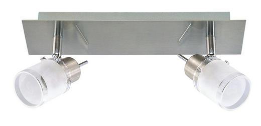 DECKENLEUCHTE - Weiß/Nickelfarben, Design, Glas/Metall (30/7/15,5cm) - Boxxx