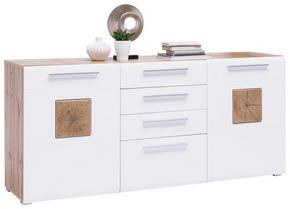 SIDEBOARD - vit/kromfärg, Klassisk, träbaserade material/plast (180/82/43cm) - Hom`in