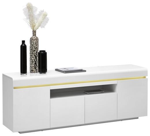 LOWBOARD lackiert, matt Weiß - Weiß, MODERN, Holzwerkstoff (180/64/40cm)