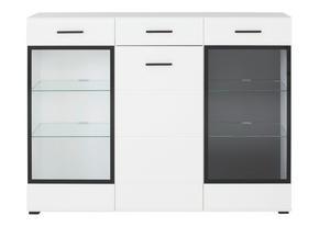 HIGHBOARD - vit/svart, Design, glas/träbaserade material (150/114/40cm) - Carryhome