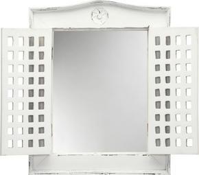 SPEGEL - vit, Trend, glas/trä (50/62/5cm) - Ambia Home
