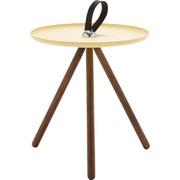 BEISTELLTISCH in Gelb, Nussbaumfarben - Gelb/Nussbaumfarben, Design, Holz/Metall (40/45cm) - Rolf Benz