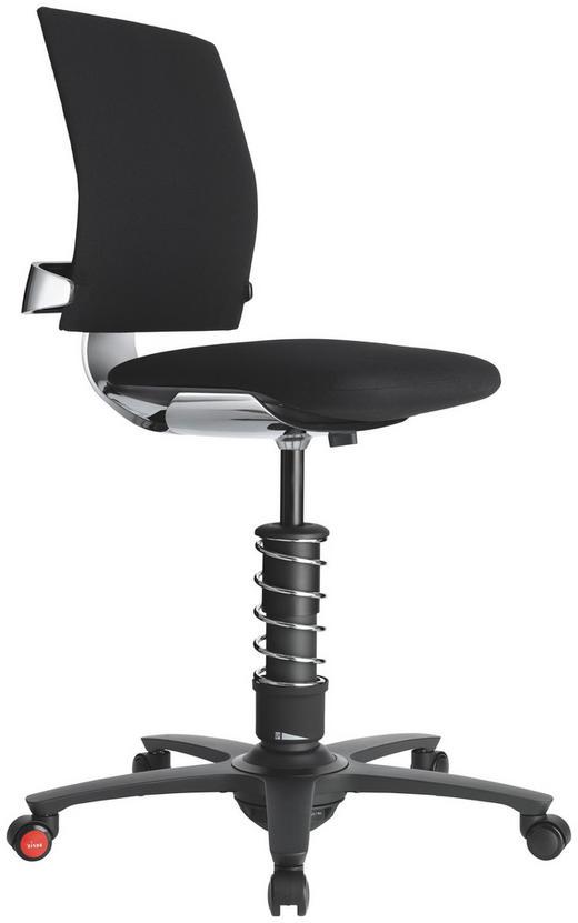 DREHSTUHL Chromfarben, Schwarz - Chromfarben/Schwarz, KONVENTIONELL, Kunststoff/Textil (58cm) - Aeris