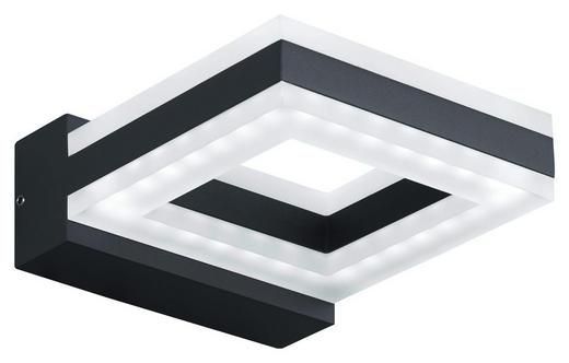 LED-AUßENLEUCHTE - Dunkelgrau/Weiß, Design, Kunststoff/Metall (13/3,5/17,5cm)