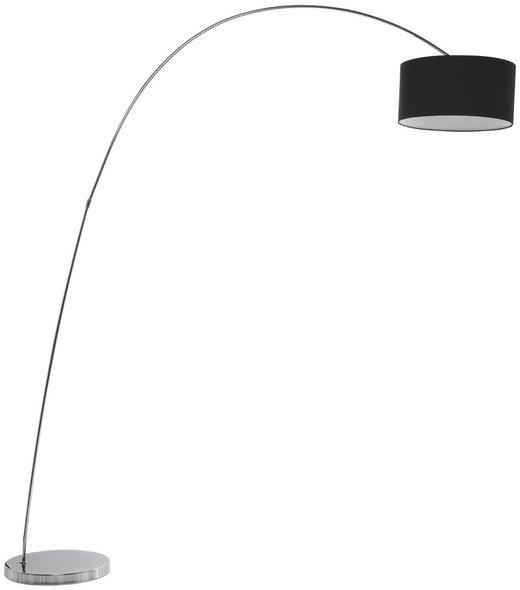 BOGENLEUCHTE - Chromfarben/Silberfarben, Design, Kunststoff/Textil (160/205/40cm) - Kare-Design