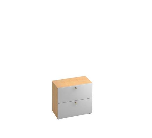 HÄNGEREGISTERELEMENT - Silberfarben/Ahornfarben, KONVENTIONELL, Holzwerkstoff/Kunststoff (80/74,8/42cm)