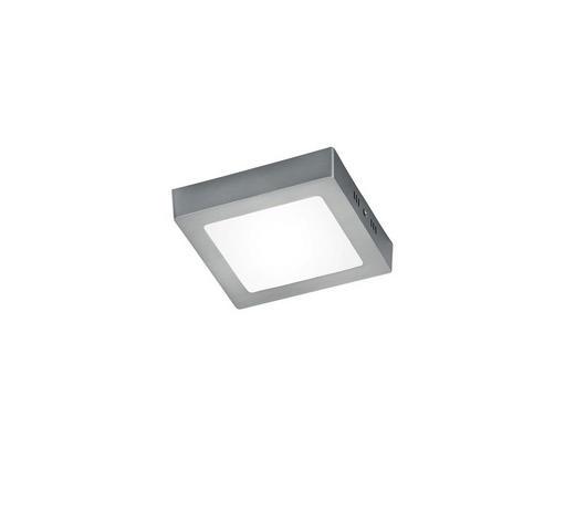 LED-DECKENLEUCHTE - Weiß/Nickelfarben, Design, Kunststoff/Metall (18/3,5/18cm)