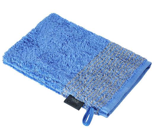 WASCHHANDSCHUH - Blau, KONVENTIONELL, Textil (16/22cm) - Cawoe