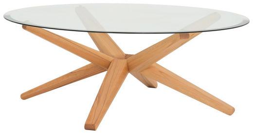 COUCHTISCH in Holz, Glas  105/39,5 cm - Buchefarben, Design, Glas/Holz (105/39,5cm) - Team 7
