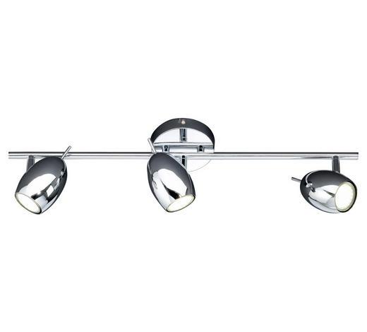 LED-STRAHLER - Chromfarben, LIFESTYLE, Metall (61/14/9cm)