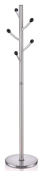 KLEIDERSTÄNDER in Edelstahlfarben - Edelstahlfarben, Design, Metall (39/185cm) - XORA