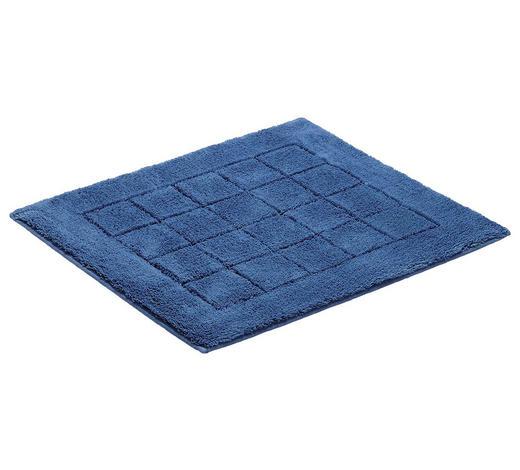 PŘEDLOŽKA KOUPELNOVÁ, 55/65 cm, tmavě modrá - tmavě modrá, Basics, textil/umělá hmota (55/65cm) - Vossen