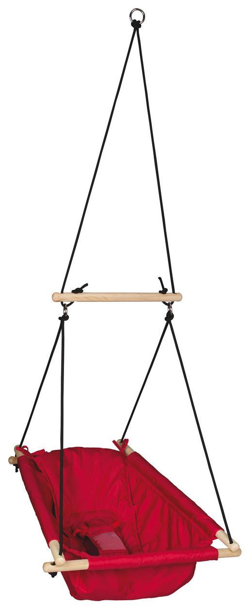 KINDER-SCHAUKELSESSEL - Rot, Textil (60/30cm) - Roba
