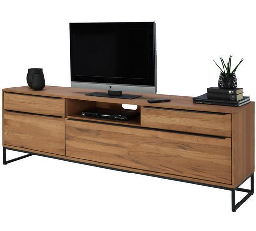 TV-ELEMENT 214/68/45 cm - Eichefarben/Schwarz, Design, Holz/Holzwerkstoff (214/68/45cm) - Lomoco