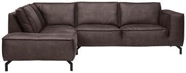 WOHNLANDSCHAFT in Textil Braun - Schwarz/Braun, ROMANTIK / LANDHAUS, Textil/Metall (230/283cm) - Valnatura