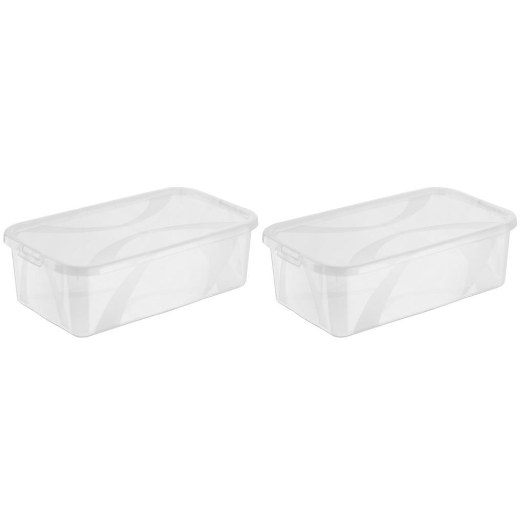 Image of Rotho Box mit deckel 34/20/11 cm , 6119700096Lz , Transparent , Kunststoff , 20x11 cm , Deckel abnehmbar , 003294028805
