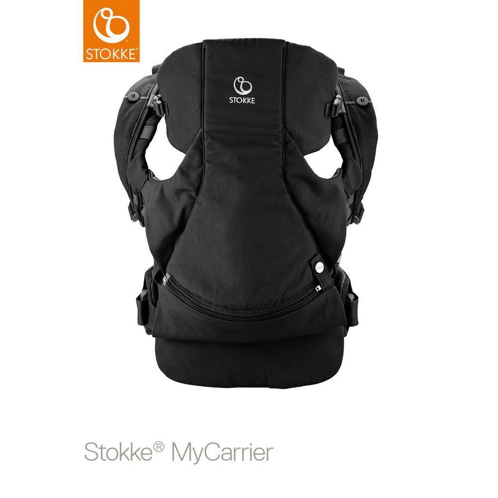 Image of Stokke Babytrage my carrier , 431603 Mycarrier 3 In 1 , Schwarz , Textil , 40x35x10 cm , Rückentragefunktion, Bauchtragefunktion, gepolsterte und faltbare Kopf- und Nackenstütze , 004792009403