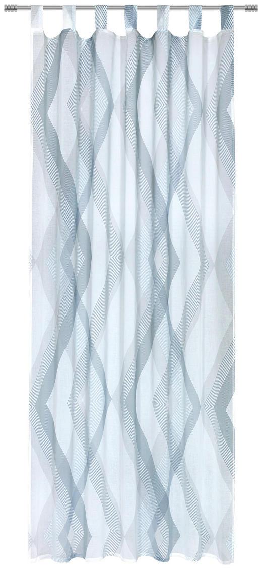 SCHLAUFENSCHAL  halbtransparent   140/245 cm - Blau/Grau, Design, Textil (140/245cm) - Esposa