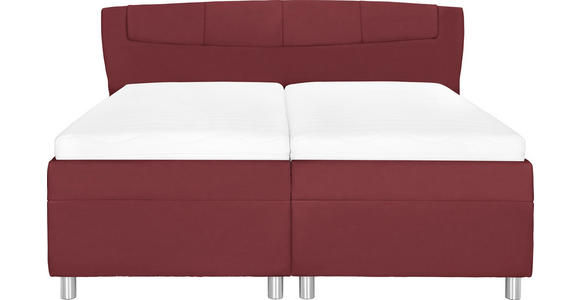 POLSTERBETT 160/200 cm  in Rot  - Chromfarben/Rot, KONVENTIONELL, Holz/Textil (160/200cm) - Esposa