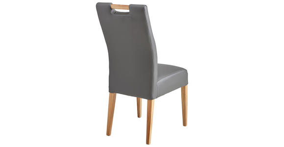 STUHL in Holz, Textil Grau, Eichefarben  - Eichefarben/Grau, KONVENTIONELL, Holz/Textil (47/100/47cm) - Cantus