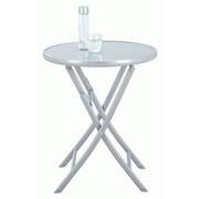 VRTNI SKLOPIVI STOL - boje srebra, Trend, staklo/metal (60/72cm) - Ambia Garden