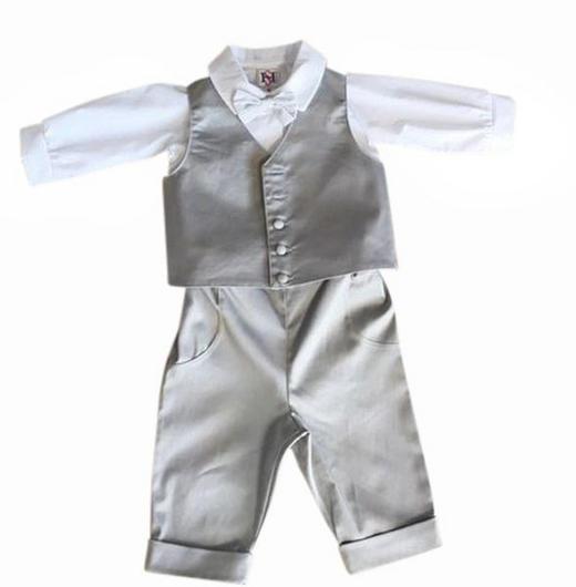 TAUFANZUG - Hellgrau/Weiß, Basics, Textil (68) - My Baby Lou