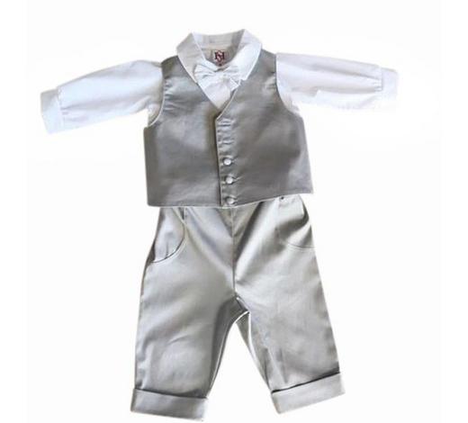 TAUFANZUG - Hellgrau/Weiß, Basics, Textil (68null) - My Baby Lou