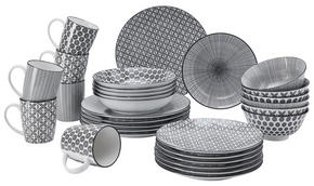 KOMPLETT SERVIS - vit/svart, Lifestyle, keramik - Ritzenhoff Breker