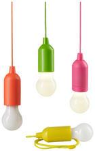 LED-KERZENSET - Pink/Gelb, KONVENTIONELL, Kunststoff (5,5/15,5cm)