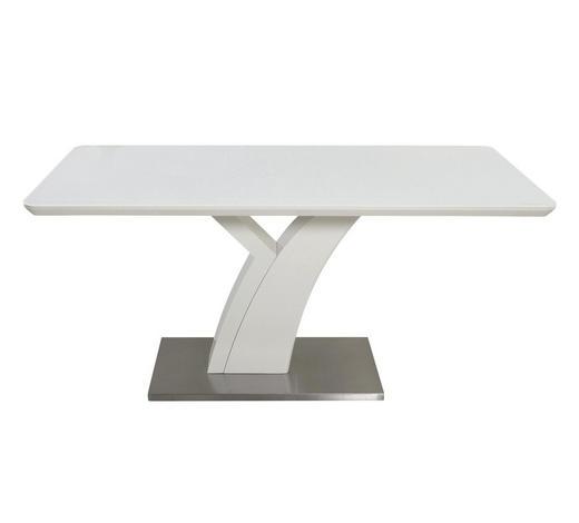 JEDILNA MIZA, bela  - bela, Design, kovina/steklo (180/76/90cm) - Novel