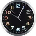 HODINY NÁSTĚNNÉ - barvy stříbra/černá, Basics, kov/umělá hmota (25cm) - BOXXX