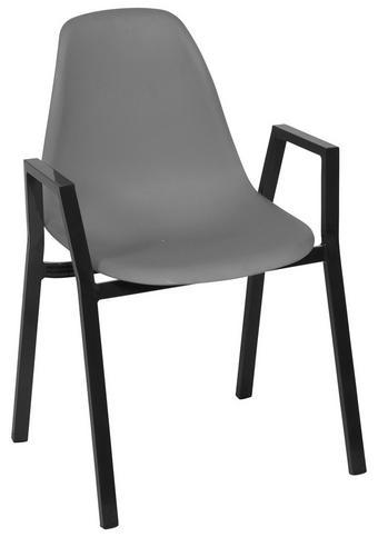 STAPELSTUHL - Anthrazit/Grau, Design, Kunststoff/Metall (57/84/60cm) - Ambia Garden
