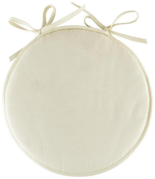 SITZKISSEN - Creme, Basics, Textil (38//cm) - Boxxx
