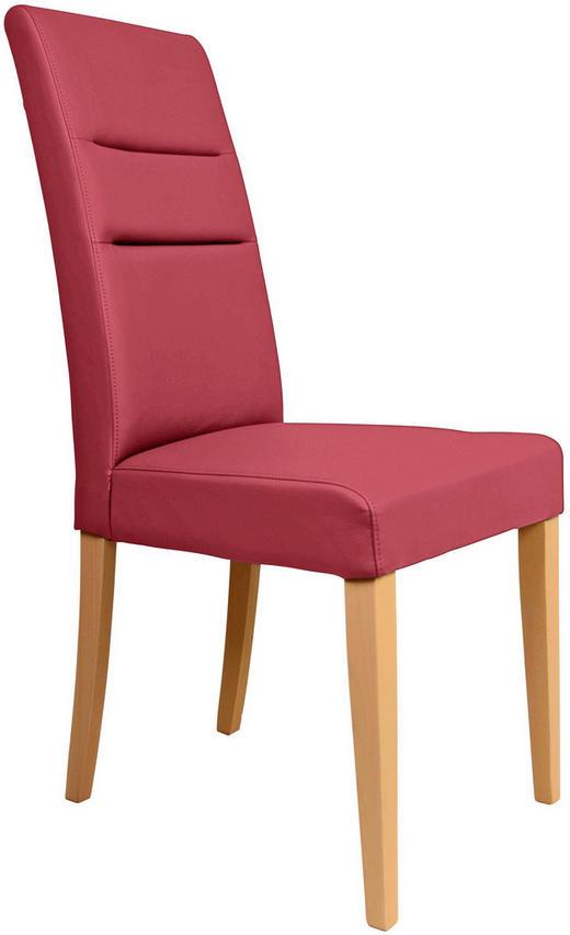 STUHL in Holz, Textil Eichefarben, Rot - Eichefarben/Rot, KONVENTIONELL, Holz/Textil (47/101/59cm) - Celina Home