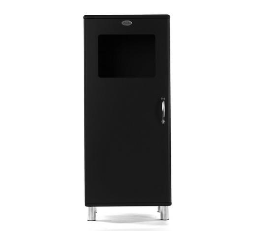 VITRINE Schwarz  - Schwarz/Nickelfarben, Design, Glas/Holzwerkstoff (60/143/44cm) - Carryhome