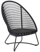 Garten-relaxsessel in - Anthrazit/Grau, Design, Textil/Metall (84/110,5/87,5cm)