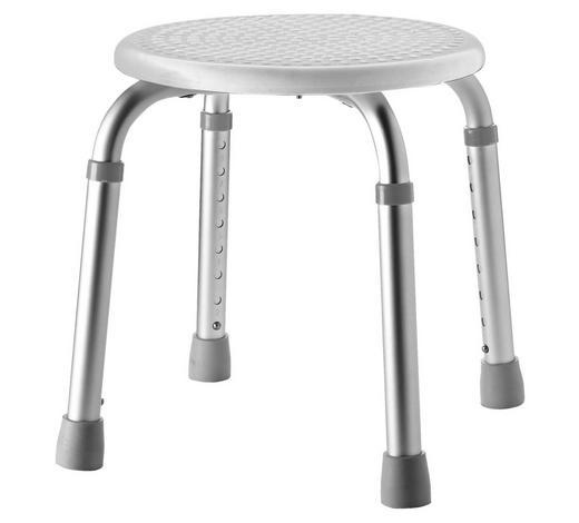 DUSCHHOCKER Metall, Kunststoff - Weiß/Grau, Basics, Kunststoff/Metall (32/35-53cm)