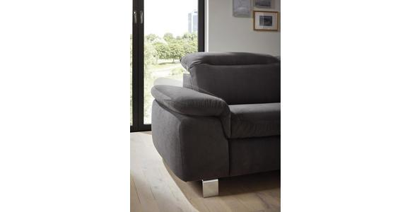 WOHNLANDSCHAFT in Textil Rot  - Chromfarben/Rot, Design, Textil/Metall (305/231cm) - Dieter Knoll