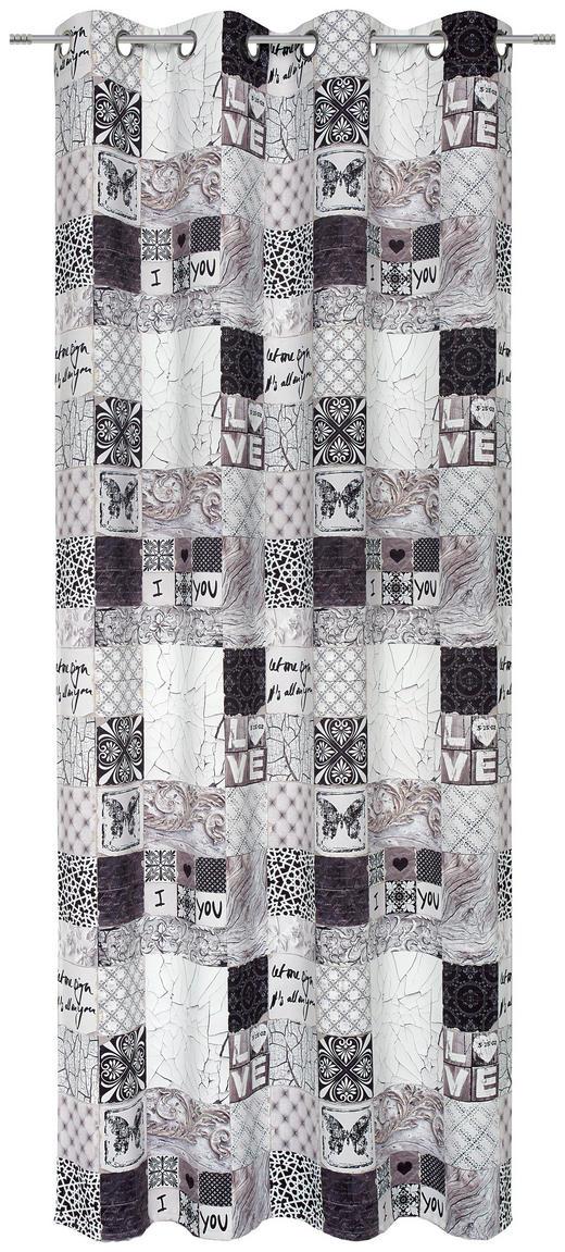 ÖSENSCHAL  black-out (lichtundurchlässig)  135/245 cm - Multicolor, Design, Textil (135/245cm) - Esposa