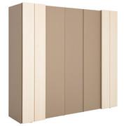 DREHTÜRENSCHRANK in furniert Ahorn Ahornfarben, Grau - Ahornfarben/Grau, Design, Holz/Holzwerkstoff (252/229,6/66,2cm) - Hülsta