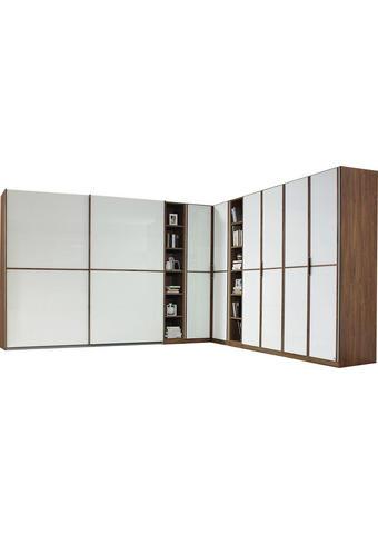 ROHOVÁ SKŘÍŇ, bílá, barvy dubu - bílá/barvy dubu, Konvenční, kompozitní dřevo (100/229cm)
