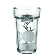 VASE 20 cm - Klar/Weiß, Glas/Keramik (12/20cm) - LEONARDO
