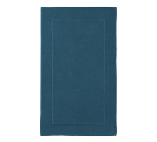 BADEMATTE  Blau  60/100 cm     - Blau, Basics, Textil (60/100cm) - Aquanova