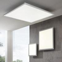 LED-DECKENLEUCHTE - Silberfarben/Weiß, Design, Metall (30/30/5,6cm) - Novel
